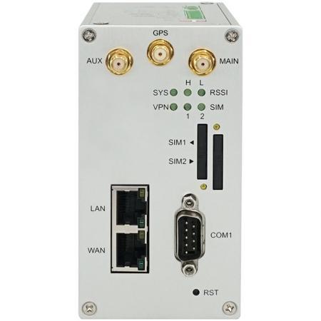 雙SIM1埠工業級4G LTE行動通訊路由器 GPS M300-G 正面