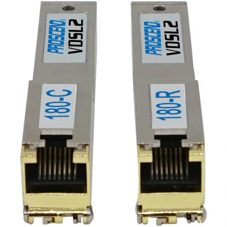 VDSL2 SFP Modem for Long Reach Ethernet 180-C 180-R Front View