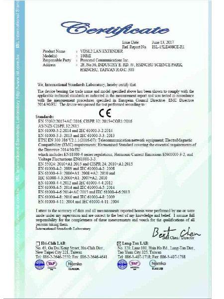 Lite Industrial Ethernet Extender 100MI CE Certificate