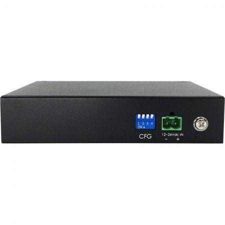 लाइट इंडस्ट्रियल 4-पोर्ट गीगाबिट VDSL2 ईथरनेट एक्सटेंडर 110MI DC मोड