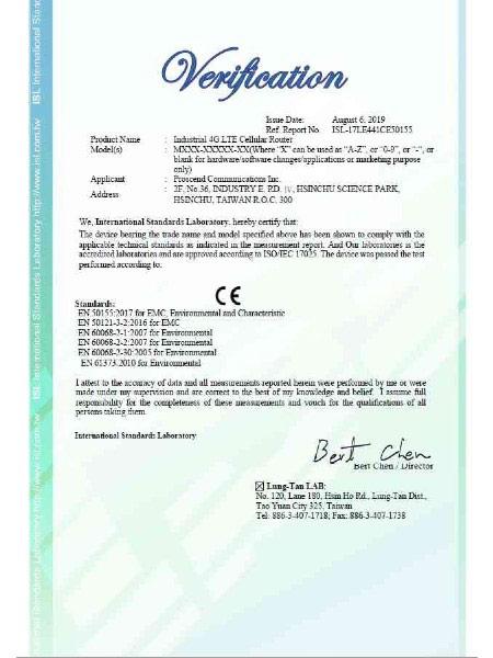 Industrial VPN IoT Cellular Router M30x EN50155 Certificate