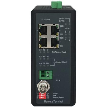 Remote 101MP Industrial Long Reach Power over Ethernet