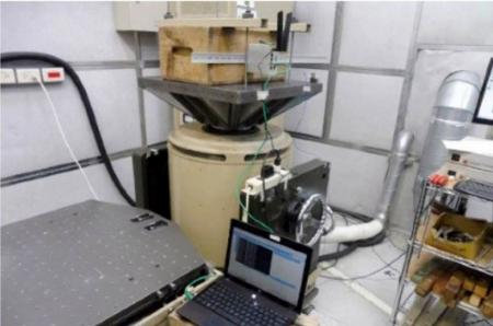 Industrial cellular router conducts vibration testing at a laboratory.