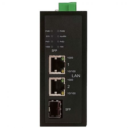 Industrial 2-Port Gigabit Fiber-to-Ethernet 120Watts PoE Injector