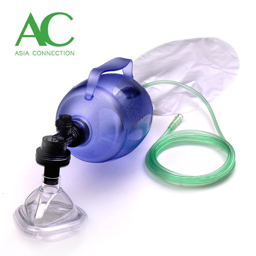 Adult Disposable Manual Resuscitator BVM with Handle - Adult Disposable Manual Resuscitator BVM with Handle