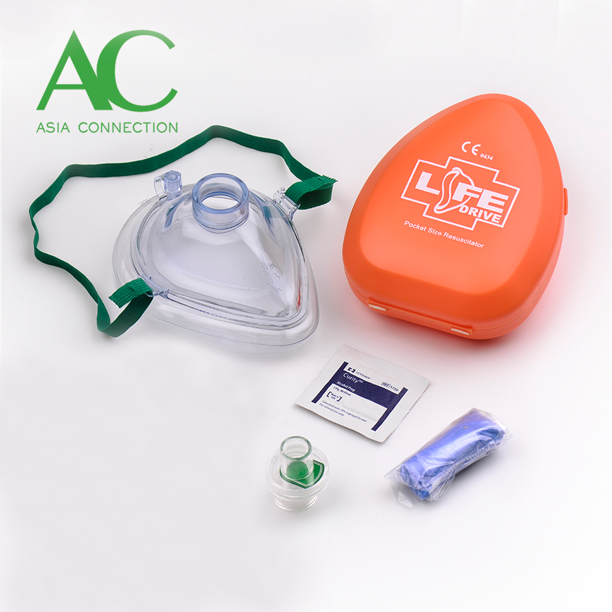 Maska CPR dla dorosłych w twardej walizce / masce kieszonkowej - Maska CPR dla dorosłych w twardym etui