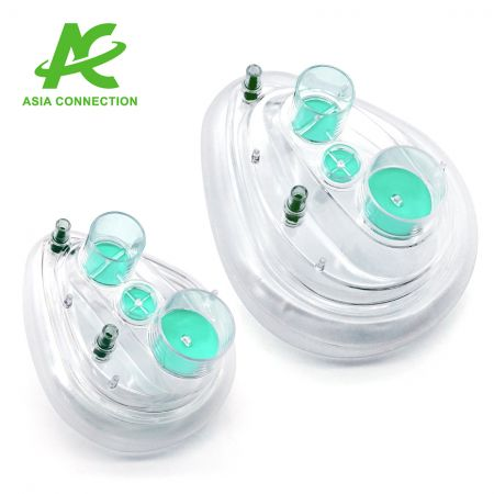 Twin Port CPAP Mask with Two Valves - Twin Port CPAP Masks with Two Valves for Adult and Child