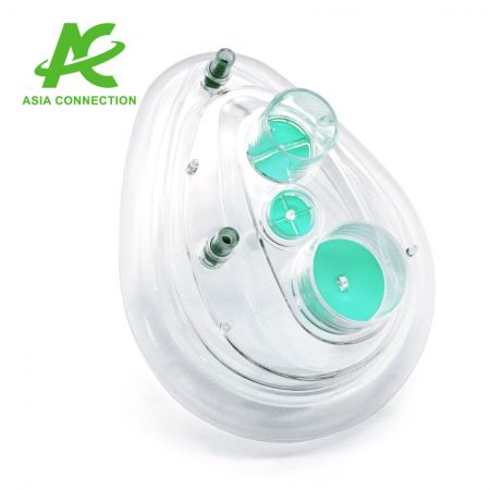 Twin Port CPAP Mask with Two Valves - Twin Port CPAP Mask with Two Valves