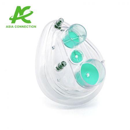 Dwuportowe maski CPAP z dwoma zaworami dla dziecka