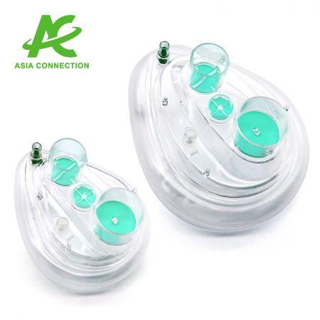 Dwuportowa maska CPAP z jednym zaworem - Dwuportowa maska CPAP z jednym zaworem dla dorosłych i dzieci