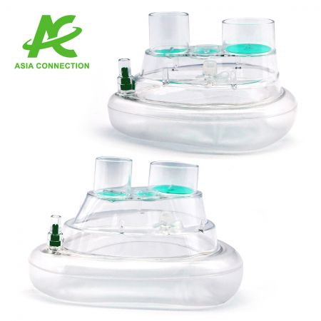 Twin Port CPAP Masks with One Valve for Adult and Child Side View
