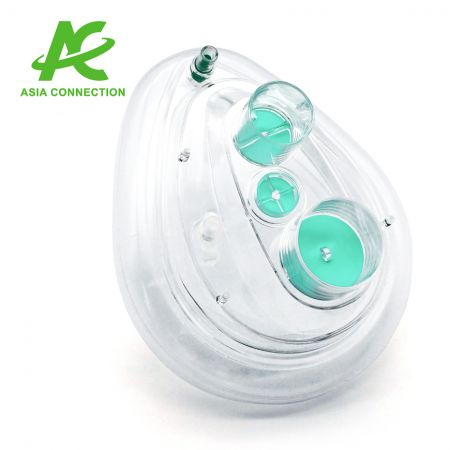 Twin Port CPAP Masks with One Valve for Adult