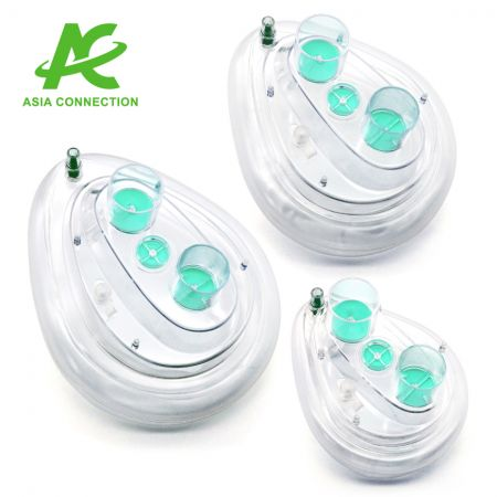 Twin Port CPAP Mask with Sampling Port - Twin Port CPAP Mask with Sampling Port for Adult and Child