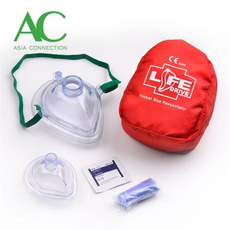 Adult & Infant CPR Pocket Masks in Soft Case/Pocket Mask - Adult & Infant CPR Pocket Masks in Soft Case