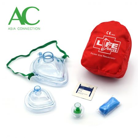 Matanda at Sanggol na CPR Pocket Masks sa Soft Case / Pocket Mask - Matanda at Sanggol na CPR Pocket Masks sa Soft Case