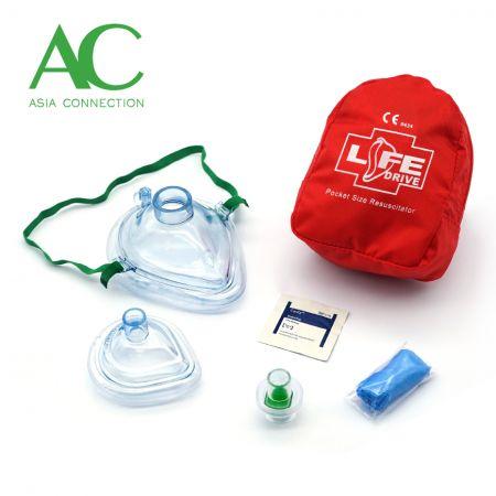 CPR-Taschenmasken für Erwachsene und Kleinkinder im Softcase - CPR-Taschenmasken für Erwachsene und Kleinkinder im Softcase