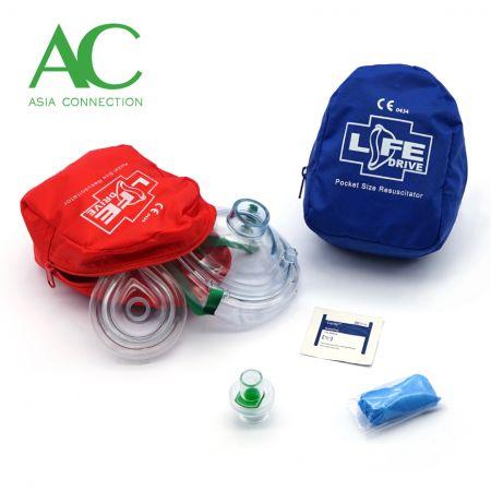 Adult & Infant CPR Pocket Masks Various Soft Case Color Options