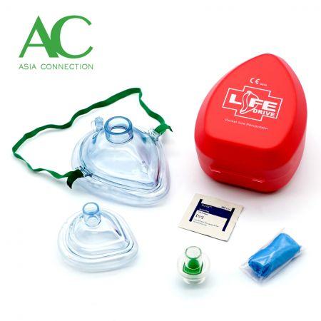 ハードケースの成人および幼児CPRポケットマスク