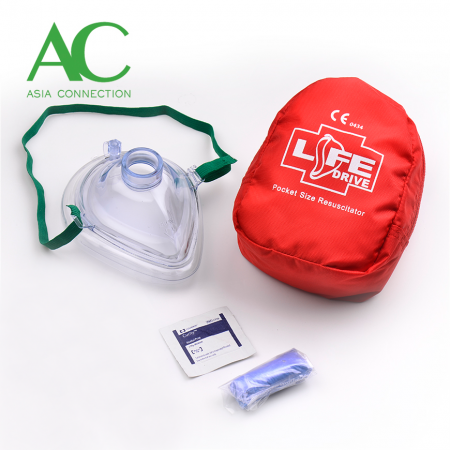 Adult CPR Pocket Mask in Soft Case/Pocket Mask