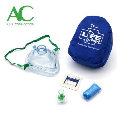 ソフトケースの成人CPRポケットマスク