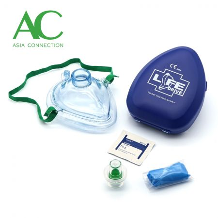Adult CPR Pocket Mask in Hard Case/Pocket Mask