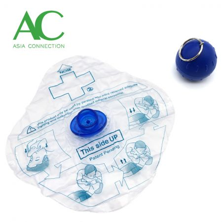 CPR Face Shield with Ball Shape Case - CPR Face Shield