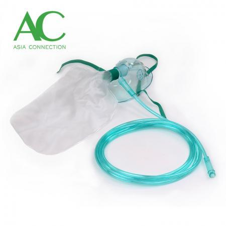 チューブ付き高濃度酸素マスク