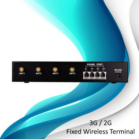 3G Fixed Wireless Terminal- 4 Ports - 3G Fixed Wireless Terminal