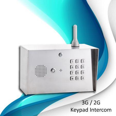 Interphone col de cygne GSM numérique 3G - Panneau de clavier d'interphone