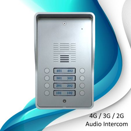 Sistemas de intercomunicação de áudio 3G (8 residências) - Porteiro 3G SS1603-08