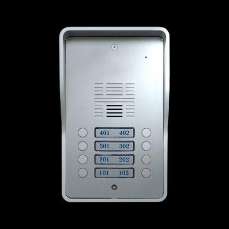 Sistemas de intercomunicação 4G VoLTE GSM (8 residências) - Porteiro eletrônico 4G SS1603-08