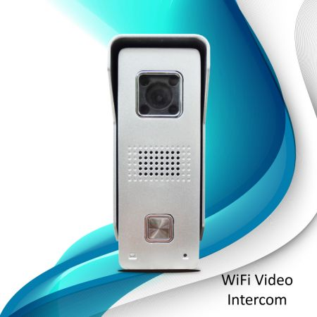 Timbre con video de seguridad WiFi (plateado) - Timbre con video WiFi