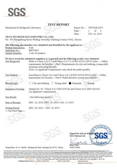 Rapporto n.: TH70168/2015