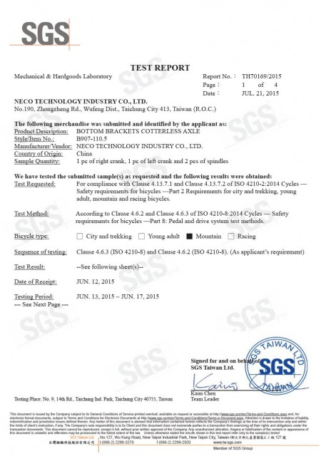 Rapporto n.: TH70169/2015