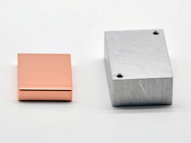 Thermal conductive aluminum and copper blocks