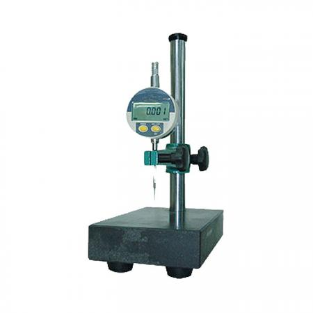 A measuring device used either for determining the height of objects, or for marking of items to be worked on.