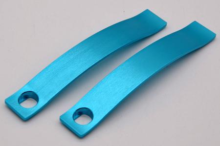 Hairline processing with anodizing.