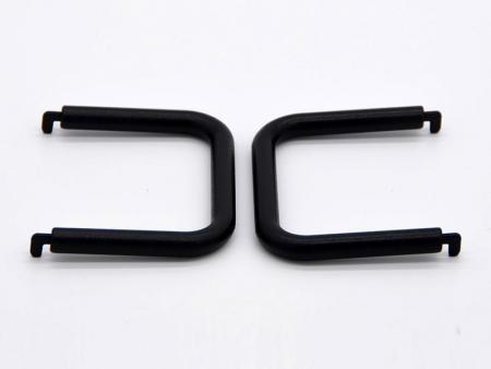 Asas de aluminio con recubrimiento en polvo en negro - Mangos de aluminio para fresado CNC