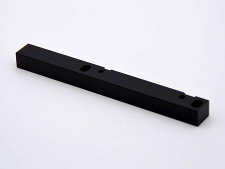Black anodized aluminum handles