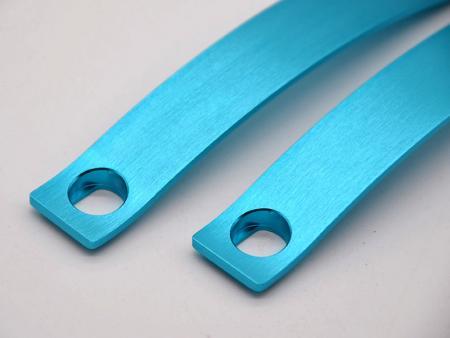Blue anodized aluminum handles