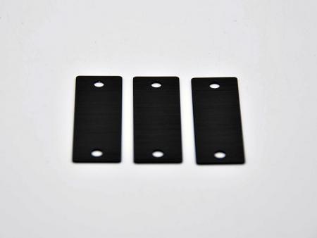 Abbrasive and anodized CNC aluminum componets