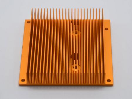 Disipador de calor extruido de aluminio anodizado - Disipadores de calor para computadora