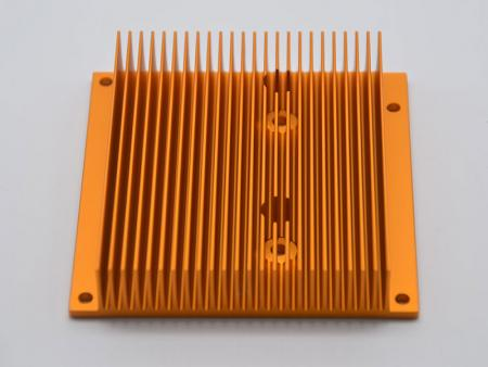 Anodided alumium extruded heatsink