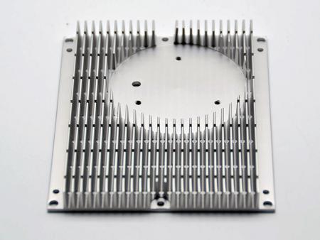 Ditched aluminum heatsink