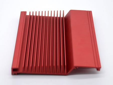 Red anodized embedded chassis
