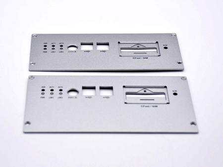 Silver powder coating aluminum front panel - Customized Front Panel