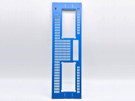 Blue Powder Coating Aluminum Front Plate - Customized Front Panel