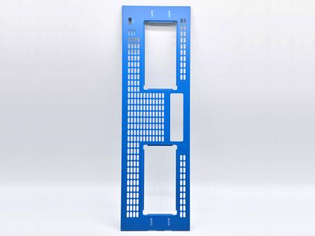 Blue Powder Coating Aluminum Front Plate - Customized Front Panel