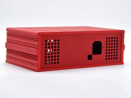 هيكل مدمج أحمر مُجمَّع - هيكل الكمبيوتر بدون مروحة