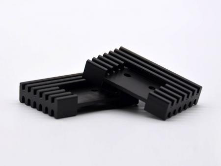 CNC machining black anodized heatsinks